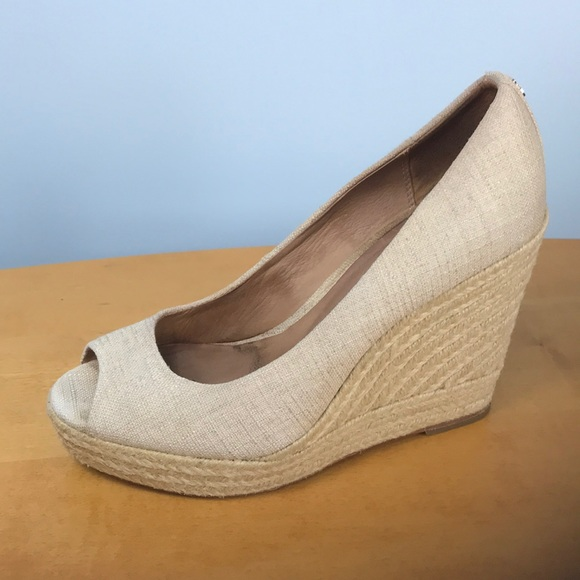 50306825abc1 Coach 🌺 Milan Open Toe Canvas Espadrille Wedges